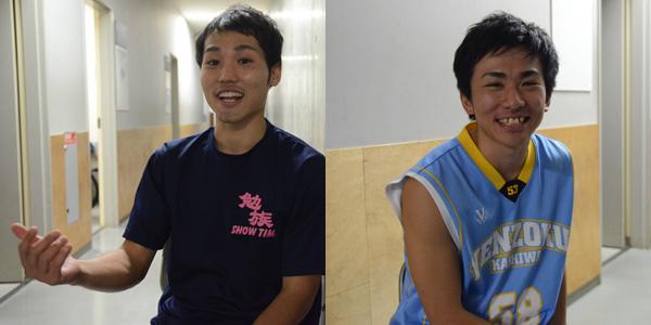 勉族の未来を担う若手メンバー、てる(左)と魚住(右)