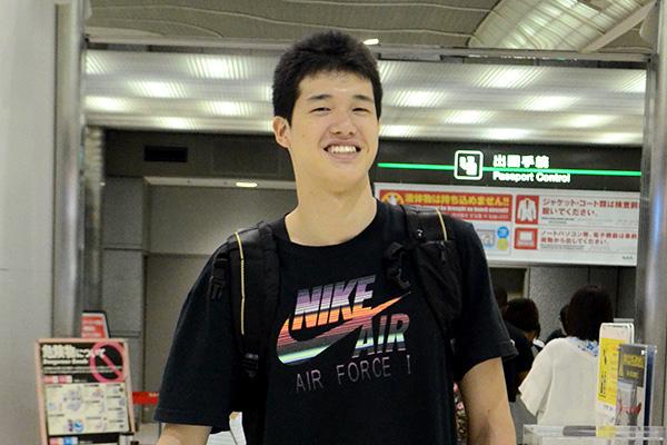 アメリカへ出発直前の渡邊 雄太選手