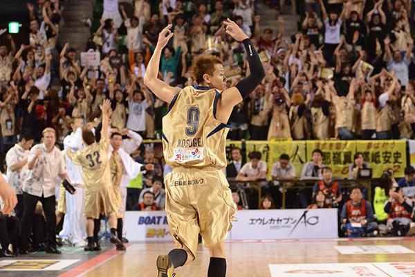 琉球ゴールデンキングス#9小菅直人選手(写真は2012-2012bjファイナル)