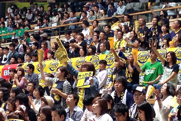 連日、栃木県から駆けつけ、サポートし続けたブレックスファン