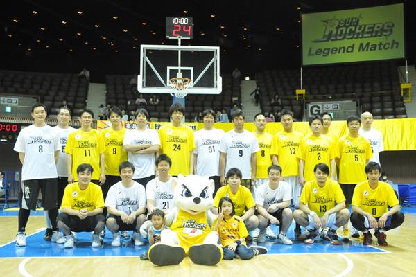 創部15年、日立サンロッカーズが Legend Matchを開催
