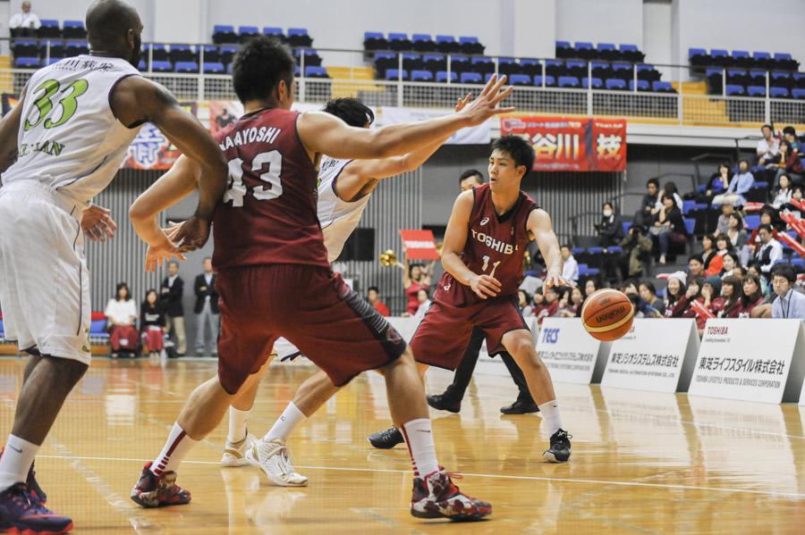 東芝神奈川#11野本、#43永吉