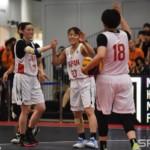 女子3x3国際大会に2チーム参戦する日本代表はいずれも首位で予選通過し、本日決勝トーナメントがお台場で開催